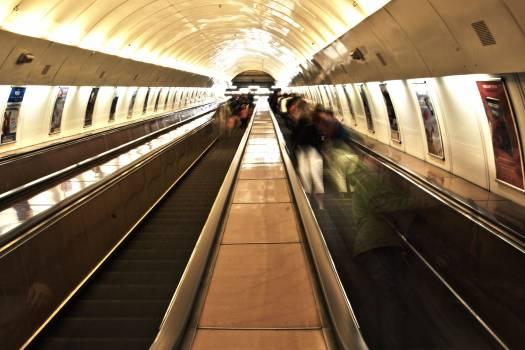 Stairs people long exposure underground #41863