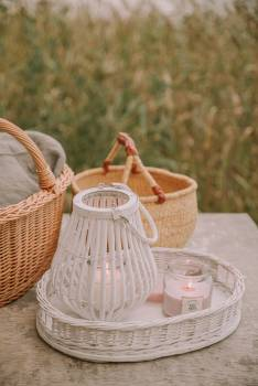 Wicker Basket Shopping basket Free Photo