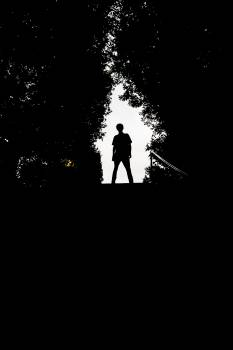 Silhouette Black Man Free Photo
