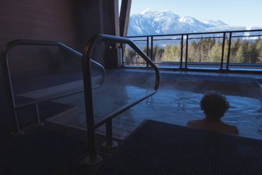 Man relaxing in hot tub at home #418785