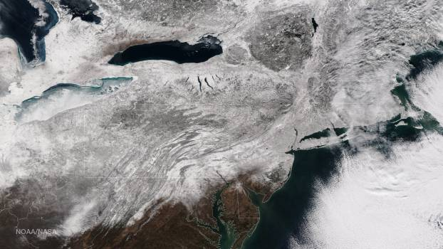 Blizzard Blankets the Northeast With Snow Free Photo