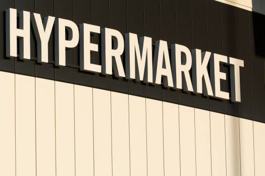 Hypermarket Sign - Free Image For Commercial Use Free Photo
