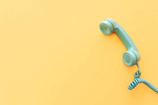 Teal Phone On Yellow #419471