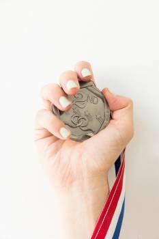 Hand Holds Medal #419472
