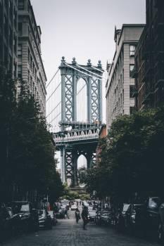 Partial View Of New York Bridge #419476