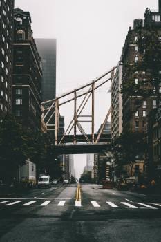 Railway Bridge Over City Street #419482