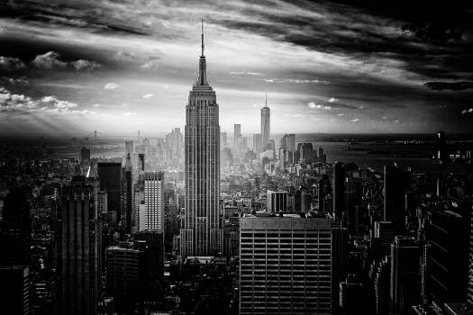 Gray Scale Photo of Empire State Building #419613