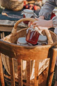 Wicker Basket Hamper Free Photo