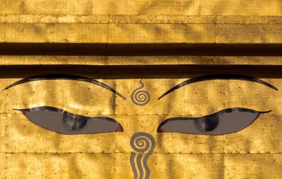 Eyes of the Buddha on the Golden Stupa - Free Image For Commercial Use #419765