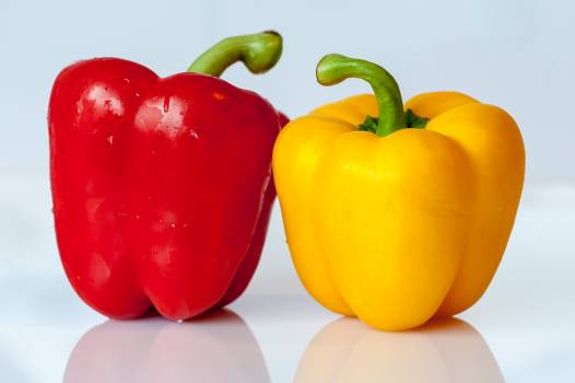 Yellow and Red Bell Pepper Free Photo