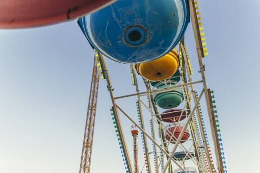 Low Angle Photo of Blue Yellow and Green Ferris Wheel #42021