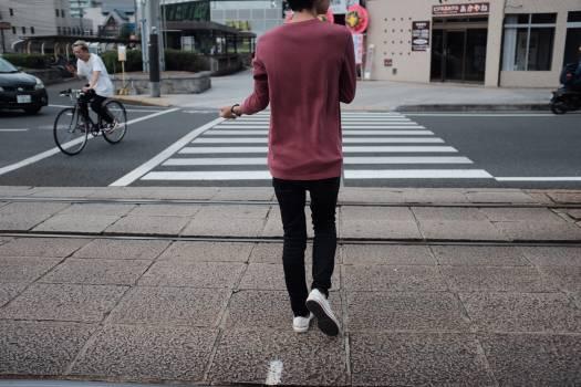 Sidewalk Person Street Free Photo