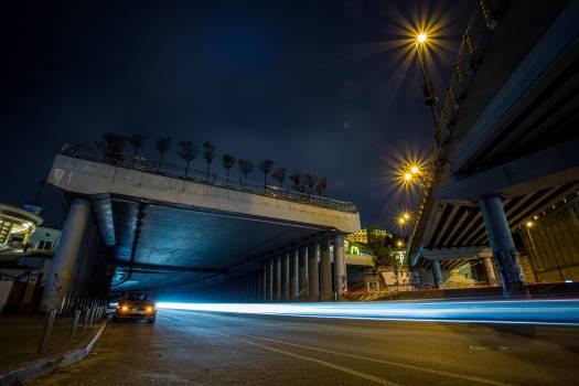 Night Bridge City Free Photo