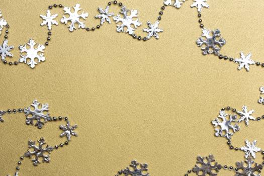 Silver and Gold Snowflakes Free Photo Free Photo