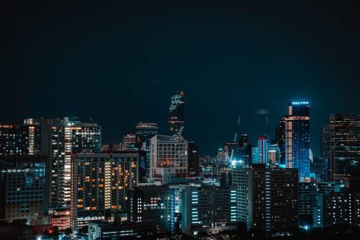 Business district City Skyline Free Photo