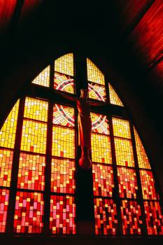 Crucifix By Stained Glass #421271