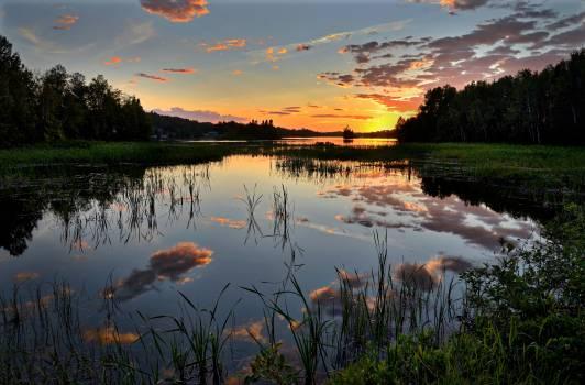 Lake Water Sky Free Photo