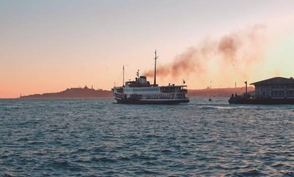 Ferry Sails At Dawn #421682