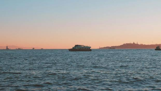 Ferry Boat At Sunset #421684