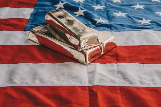 Gold Bars On An American Flag #421692