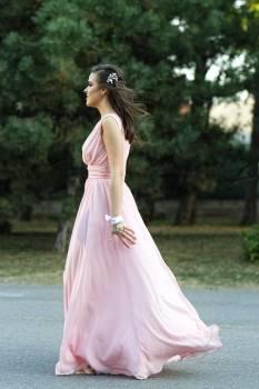 Photo Of Woman Wearing Pink Dress Free Photo