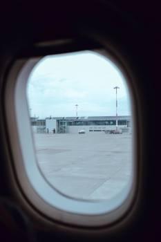 Airport Through Plane Window #421832