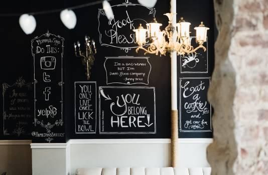 Blackboard Design Chalk Free Photo