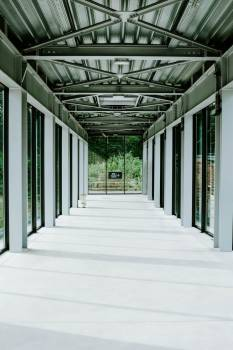 The Steel-Frame Corridor Of An Airport #421923