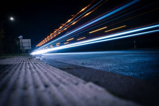 Asphalt Motion Light Free Photo