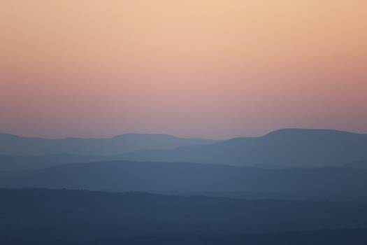 Pastel Mountain Sunset Free Photo #422041