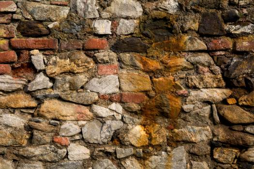 Beautiful Old Stone and Brick Wall Pattern - Free Image For Commercial Use Free Photo