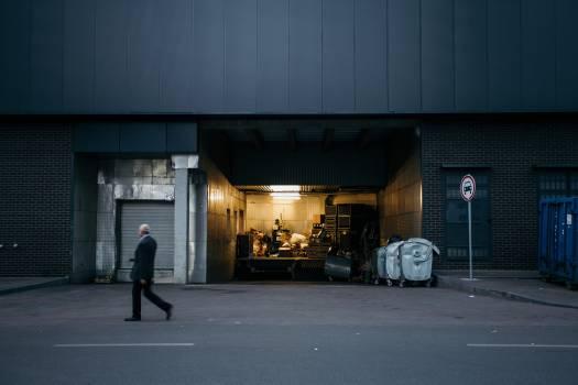 Garage Warehouse Forklift Free Photo