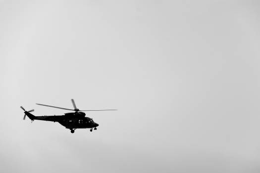 Helicopter Silhouette Side View - Free Image For Commercial Use #422241
