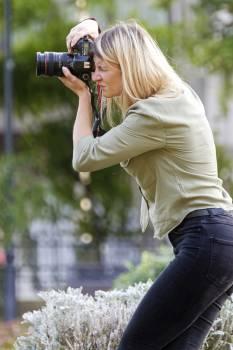 Woman Taking Photo Free Photo