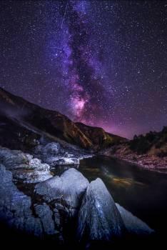 Mountain Volcano Star Free Photo