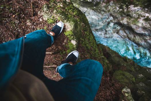 Shoes Steep Cliff Free Photo #422286