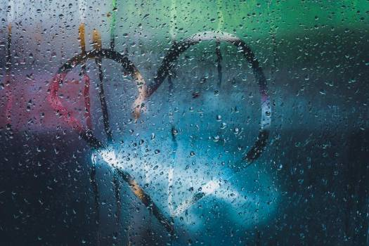 Heart Shape Traced On Condensation Covered Window #422486