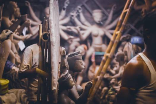 Pottery Studio Filled With A Variety Of Sacred Sculptures #422489