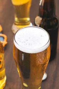 Freshly Poured Pint Of Beer #422496