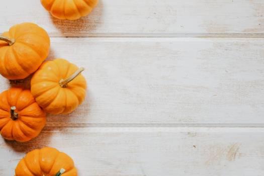 Multiple Pumpkins On Wood #422614