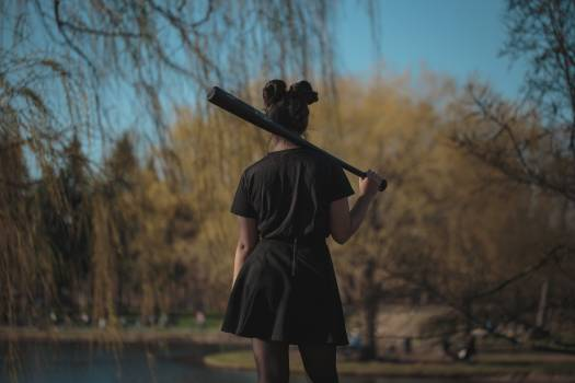 Woman with Baseball Bat Free Photo #422685