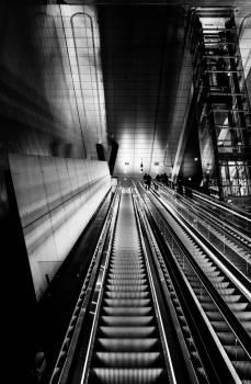 Black And White Escalator #422767