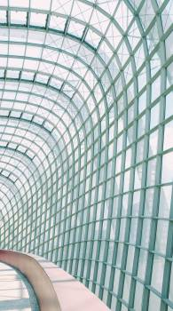 Curved Glass Walkway #422780