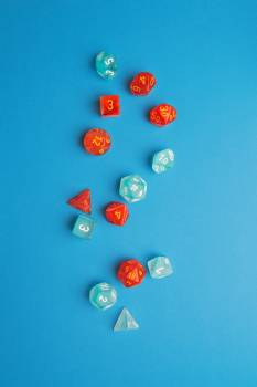 Blue And Red Dice #422892