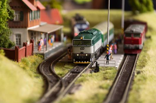 Model Trains and Station Close Up - Free Image For Commercial Use #422996