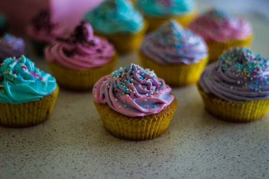 Baked goods cupcakes colorful colourful #42327