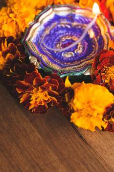 Colorful Diya #423333