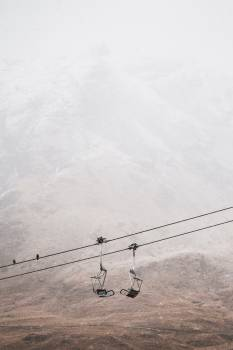 Chairlift Ski tow Wire Free Photo