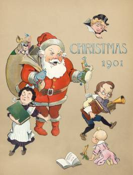 Christmas 1901 (1901) by J. Ottman Lithographic Company. Original from Library of Congress.  #423476