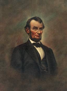 Oil Painting of Abraham Lincoln (1809-1865) by The Alfred Whital Stern Collection of Lincolniana collection. Original from Library of Congress.  Free Photo
